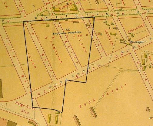 Karta Stockholms Universitet.Bergielund Bergianska Tradgarden